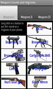 Guns sounds and ringtones