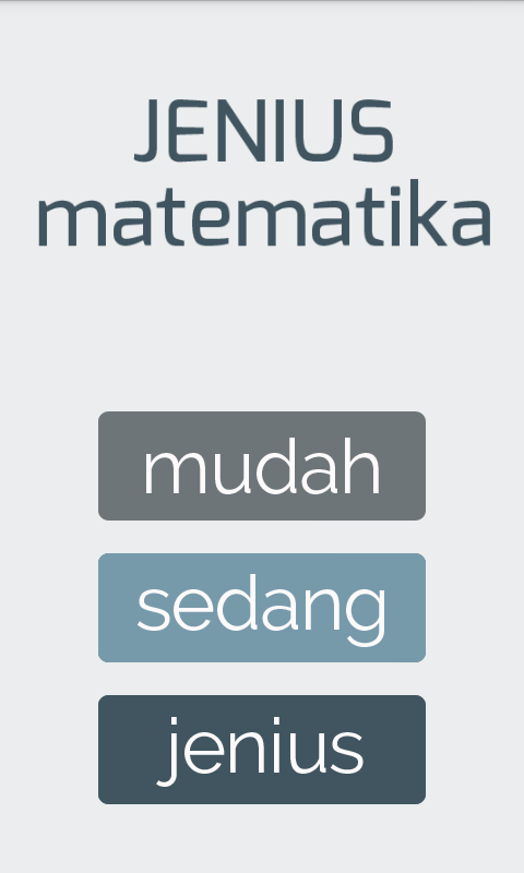 Jenius Matematika- screenshot