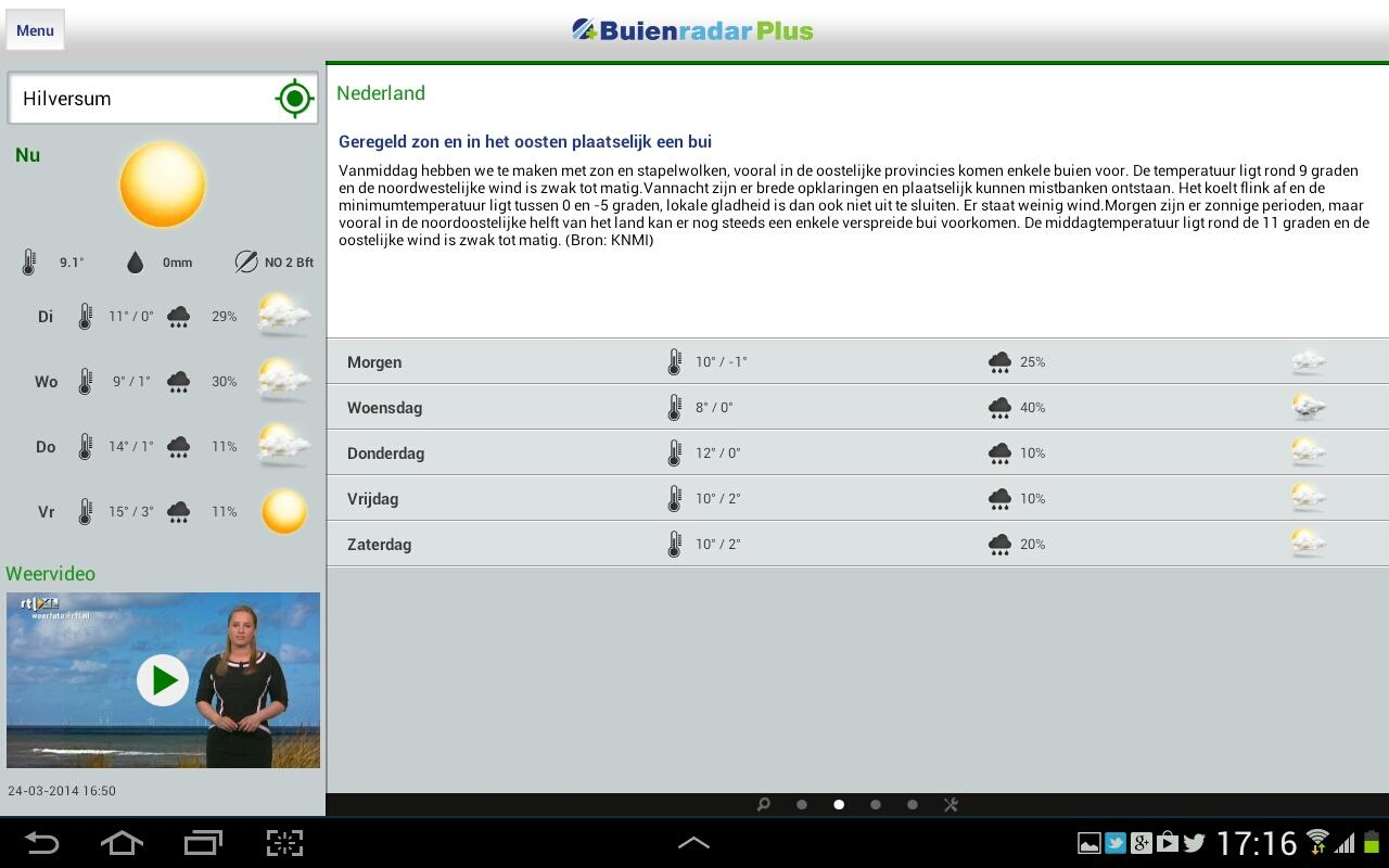 Buienradar - screenshot