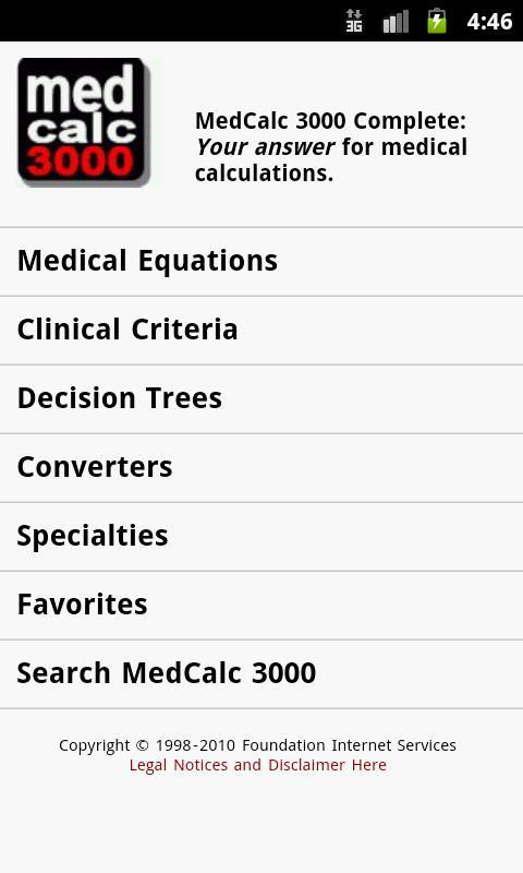 MedCalc 3000 Complete Screenshot 0