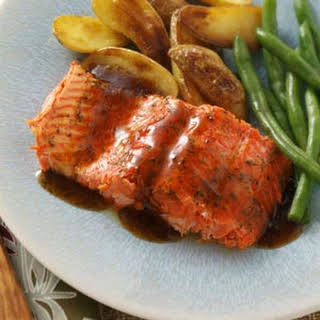 Glazed Salmon Fillet.