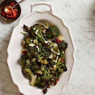 Roasted Broccoli with Pine Nuts and Parmesan