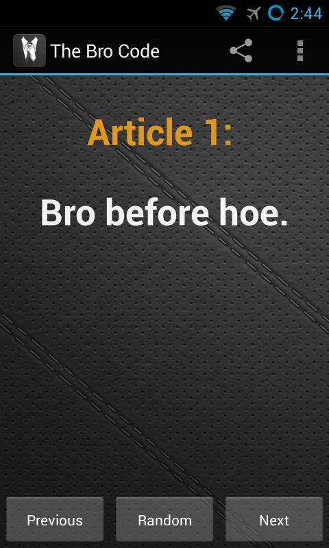 The Bro Code - screenshot