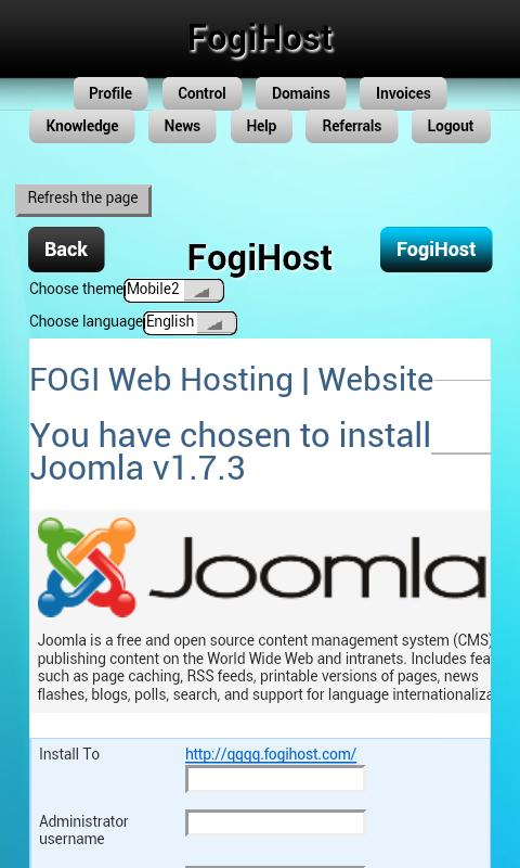 Site builder & Free webhosting - screenshot