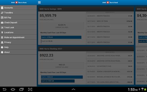 BMO Harris Mobile for Tablet - screenshot thumbnail