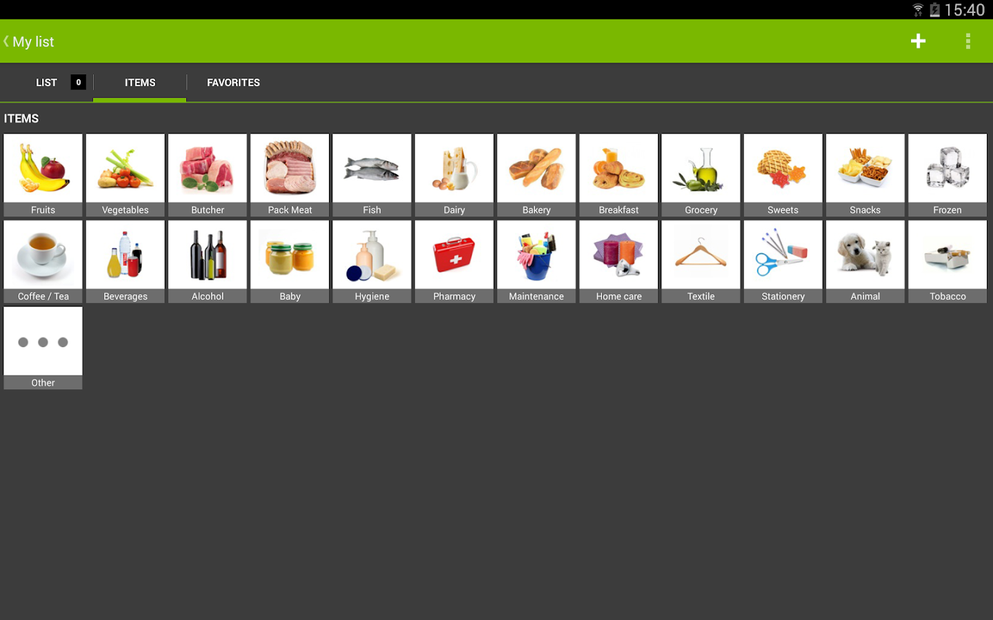 myShopi - screenshot