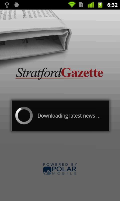 Stratford Gazette- screenshot