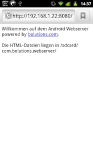 Android Webserver - screenshot thumbnail