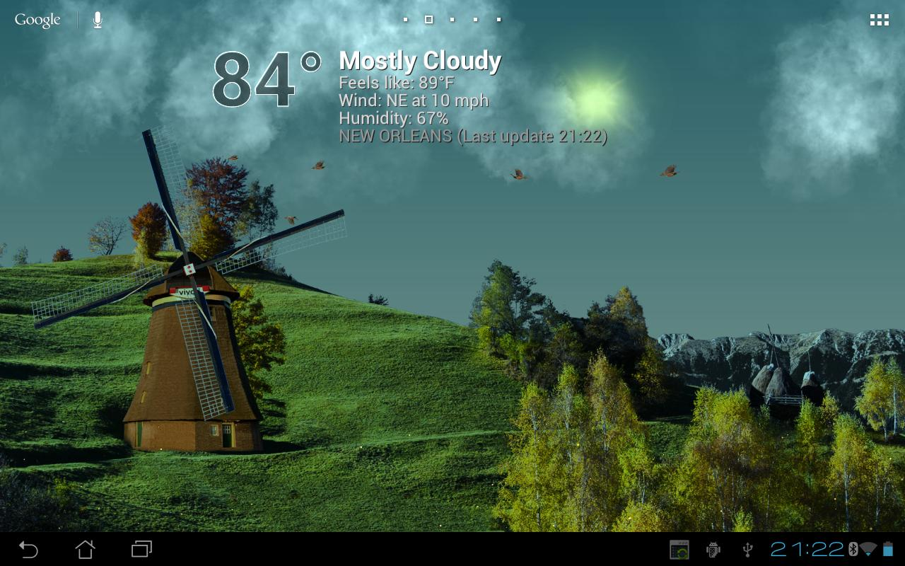 True Weather LWP - screenshot