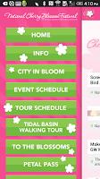 Screenshot of National Cherry Blossom Fest