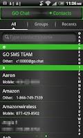 Screenshot of GO SMS THEME Green Metal