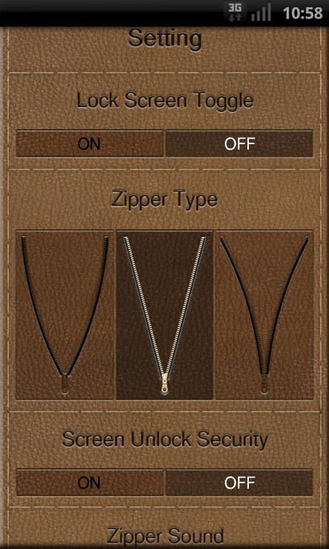 Zipper Lock Free Leather Coll.- screenshot