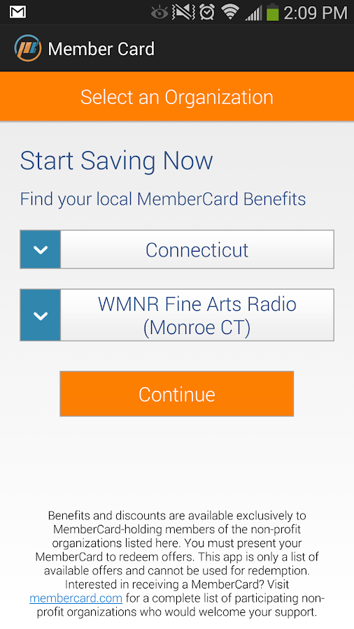 MemberCard - screenshot