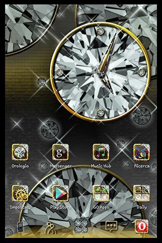 Diamond Widget Clock