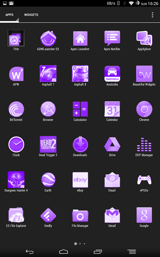 White and Purple Theme - screenshot