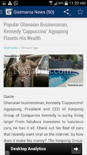 【免費新聞App】Gistmania Nigerian News-APP點子