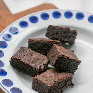 Salty, Deep-Dark Chocolate Brownies.