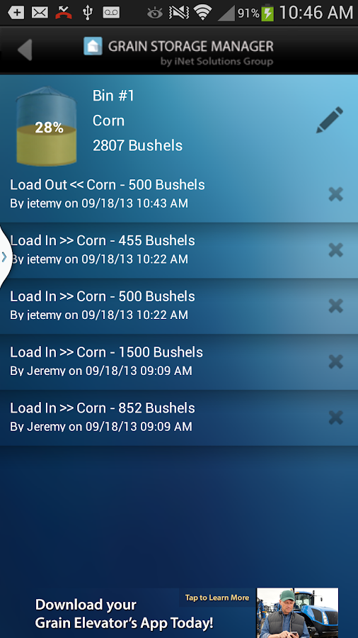 Grain Storage Manager- screenshot