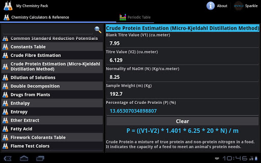 My Chemistry Pack Tablet screenshot