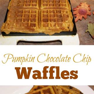 Pumpkin Chocolate Chip Wheat Waffles