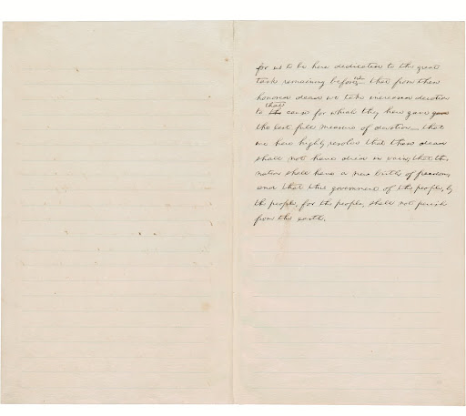 """Hay Draft"" of the Gettysburg Address, 1863., page 2"