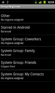 Group Ringtones - screenshot thumbnail