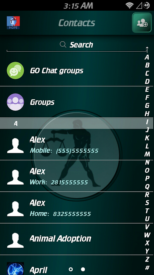Libra Zodiac Theme for GO SMS- screenshot