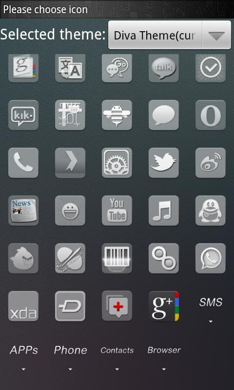 Diva Theme GO Launcher EX - screenshot