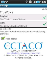 English - Thai Dictionary - screenshot thumbnail