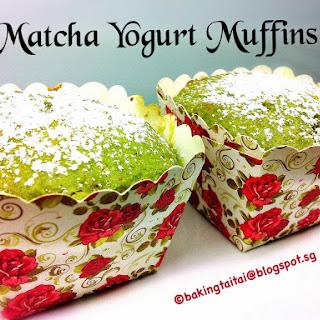 30 minutes Healthy Matcha Yogurt Muffin.