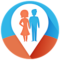 Couple Tracker -Mobile monitor icon