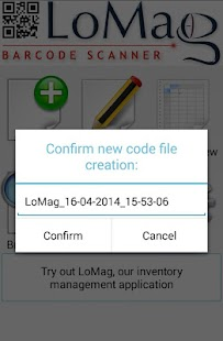 LoMag Barcode Scanner to Excel- screenshot thumbnail