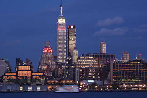 The Manhattan skyline with the Empire State Building.