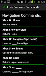 Xbox One Voice Commands - screenshot thumbnail