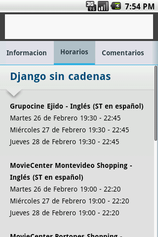 Cartelera - Montevideo Comm- screenshot