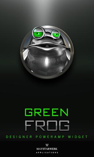 Poweramp Widget Green Frog