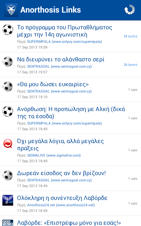 Anorthosis Links - screenshot