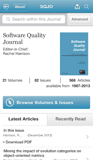 Software Quality Journal