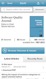Software Quality Journal- screenshot thumbnail