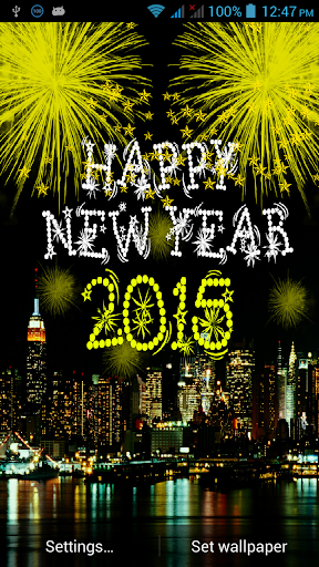 New Year 2015 Live Wallpaper