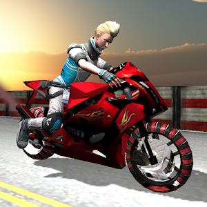 Motorcycle 3D racing path LOGO-APP點子