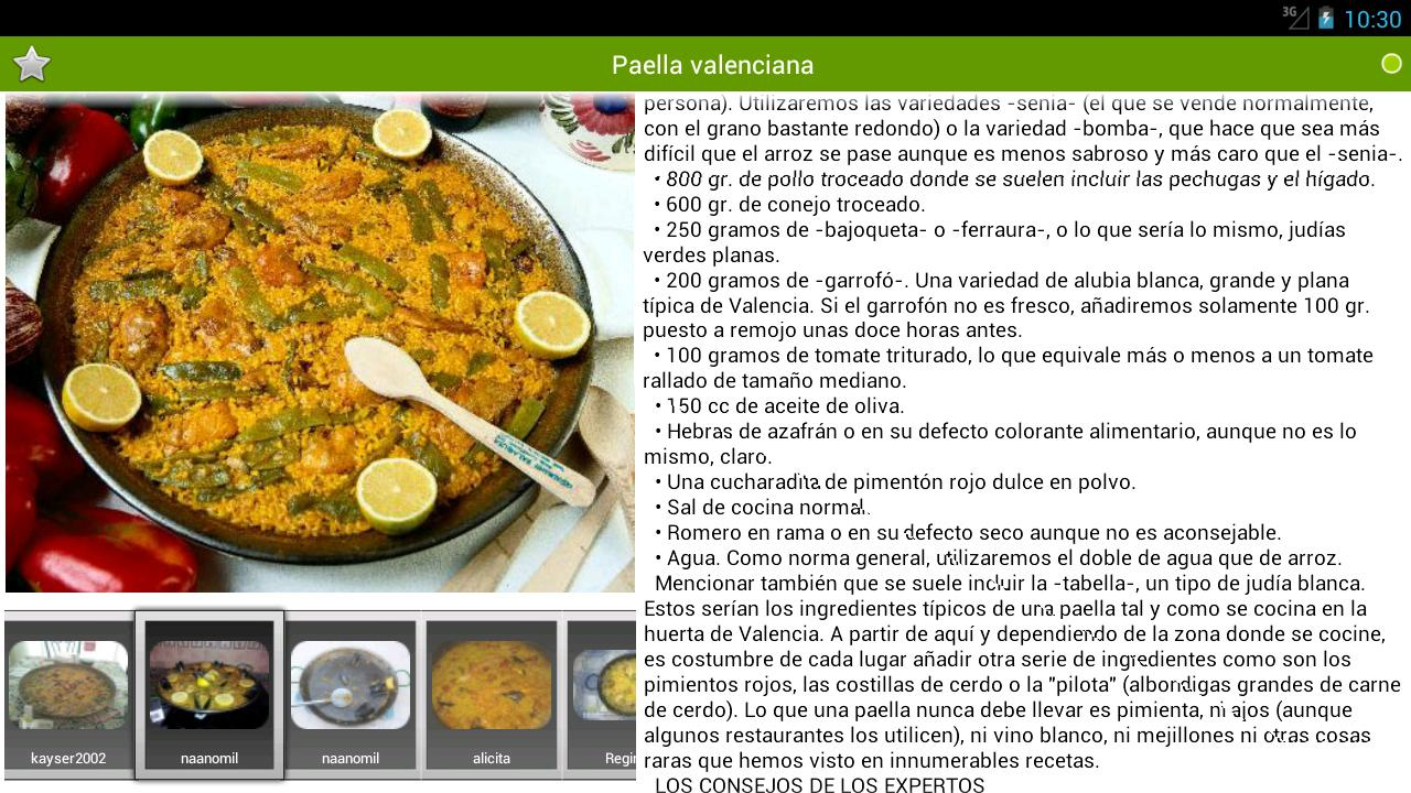 Recetario recetas de cocina android apps on google play for Ingredientes para cocinar