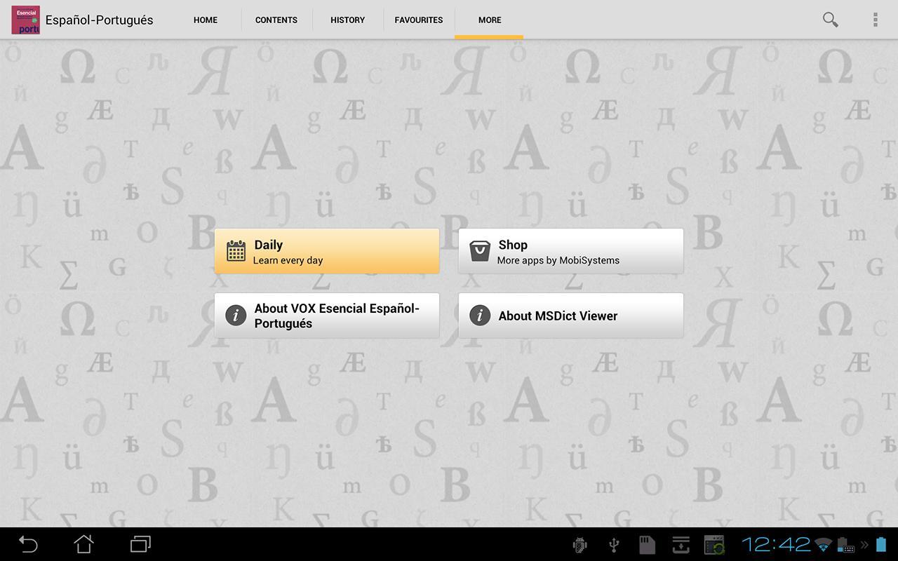 VOX Portuguese<>Spanish - screenshot