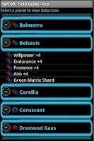 Screenshot of SWTOR: FIeld Guide PRO