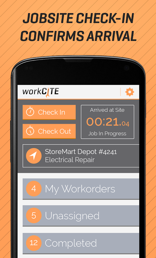workCITE Mobile Field Service- screenshot