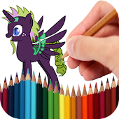 Coloring Book Pony