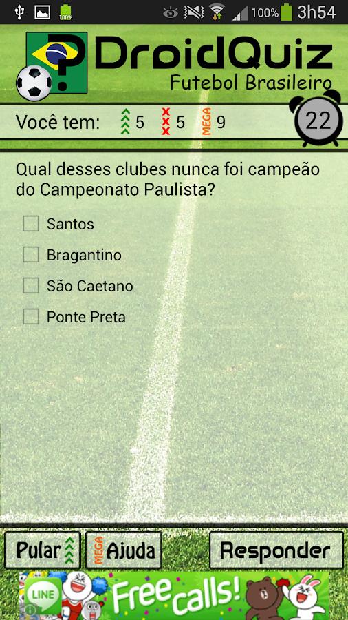 DroidQuiz - Futebol Brasileiro - screenshot