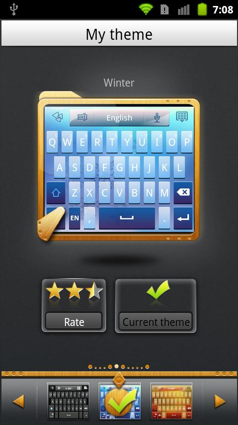 GO Keyboard Winter theme - screenshot