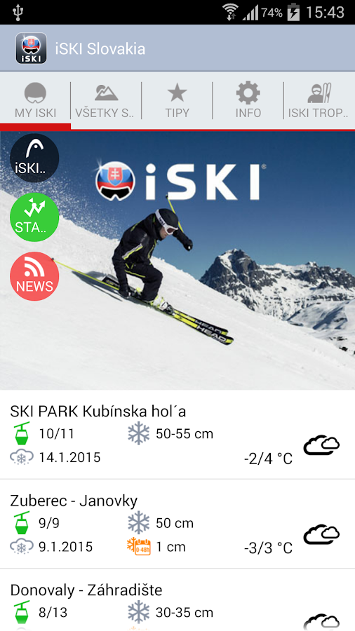 iSKI Slovakia - screenshot