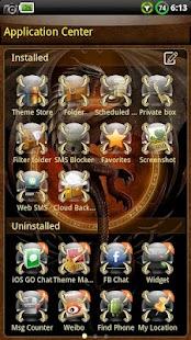 Dragon GO SMS Theme- screenshot thumbnail